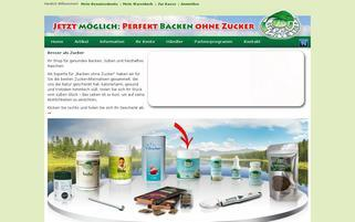 Stevia Crystal Webseiten Screenshot