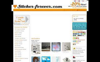 Sticker Forever Webseiten Screenshot
