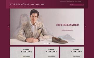 Stiefelkönig Webseiten Screenshot