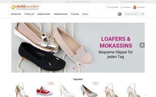 Stiefelparadies Webseiten Screenshot