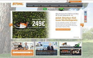 Stihl Webseiten Screenshot