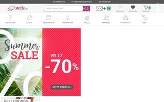 Stoffe.de Webseiten Screenshot