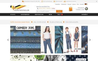 Stoffe Hemmers Webseiten Screenshot