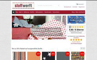 stoffwerft.com Webseiten Screenshot