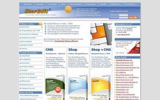 StorEdit Webseiten Screenshot