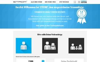 Stromhoch3 Webseiten Screenshot