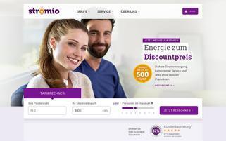 Stromio Webseiten Screenshot