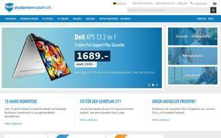 Studentenrabatt.ch Webseiten Screenshot