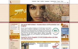 studienreisen.de Webseiten Screenshot