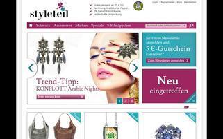 Styleteil Webseiten Screenshot