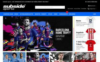 SubsideSports Webseiten Screenshot