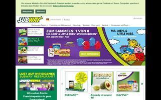 Subway Webseiten Screenshot
