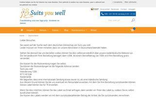 Suits You well Webseiten Screenshot