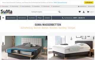 SuMa Wasserbetten Webseiten Screenshot