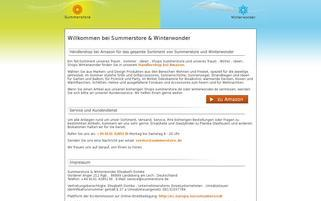 summerstore.de Webseiten Screenshot