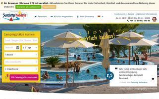 suncamp.de Webseiten Screenshot