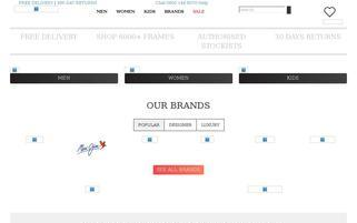 Sunglasses Shop Webseiten Screenshot