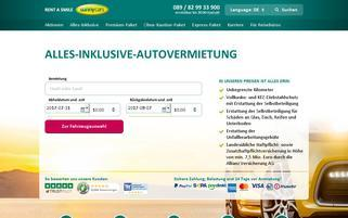 Sunnycars Webseiten Screenshot