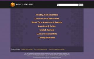 SunnyRentals Webseiten Screenshot