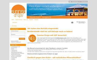 sunrisedrops.de Webseiten Screenshot