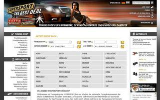 Supersport Webseiten Screenshot