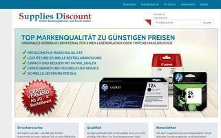 supplies-discount.de Webseiten Screenshot