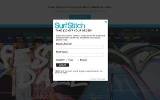 Surfstitch Webseiten Screenshot