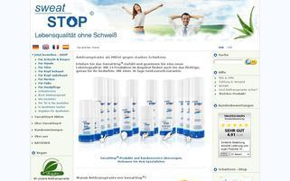 SweatStop Webseiten Screenshot