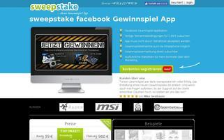 sweepstake-app.com Webseiten Screenshot