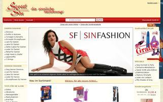 Sweet Sin Webseiten Screenshot