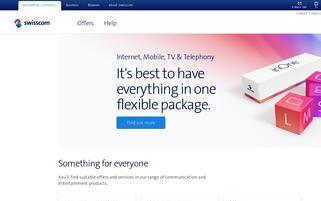 Swisscom Webseiten Screenshot