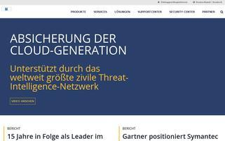 symantec.de Webseiten Screenshot