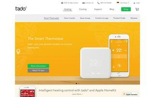 Tado Webseiten Screenshot