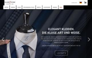 Tailor Store Webseiten Screenshot