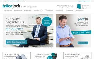 tailorjack Webseiten Screenshot