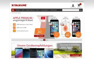 Talkline Webseiten Screenshot