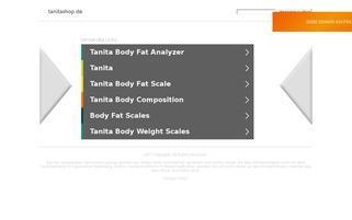 Tanita Webseiten Screenshot
