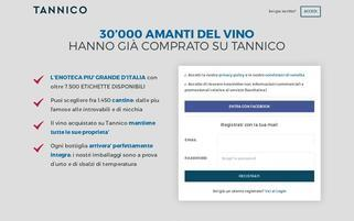 Tannico Webseiten Screenshot