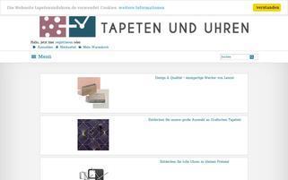 Tapeten und Uhren Webseiten Screenshot