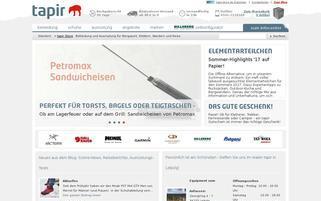 Tapir Webseiten Screenshot