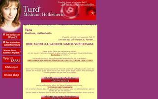 Tara Hellseherin Webseiten Screenshot