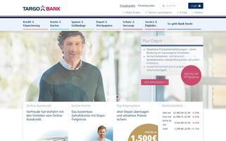 Targobank Webseiten Screenshot