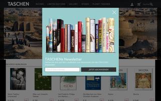 Taschen.com Webseiten Screenshot