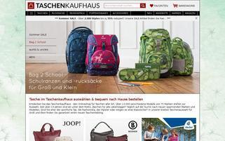 Taschenkaufhaus Webseiten Screenshot