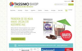 TASSIMO Webseiten Screenshot