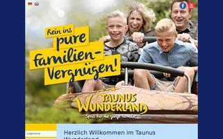 Taunus Wunderland Webseiten Screenshot