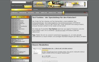 Taxi Fashion Webseiten Screenshot