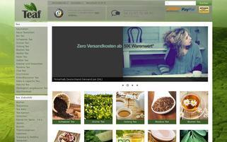 Teaf Tee-Fachhandel Webseiten Screenshot