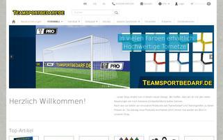 Teamsportbedarf Webseiten Screenshot
