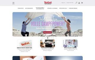 Tefal Webseiten Screenshot